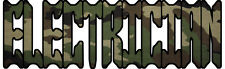 "Camo Electrician 6"" x 2"" Decal/Sticker FREE SHIPPING!!"
