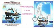 British Antarctic 2012 HMS Protector 1v MS FDC + Commanding Officer Cachet