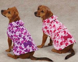 Dog Heart Fleece Coat Jacket  XXS - XXL  pet barn coats jackets Pink Purple
