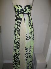 Diane Von Furstenberg Grape Vine Long Swim Cover Up M Green/Black  NWT