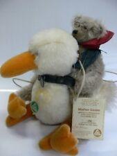 HC 94 Hermann Coburg Mother Goose mit Teddy ca 32cm Mohair