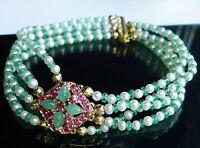 topmk-schmuck Armband, 585/14kt, RUBIN, SMARAGD, unglaublich schön! UNIKAT!