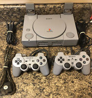 Sony PlayStation(SCPH-9001) Bundle W/2 Controllers/2 Memory Cards & Cords-Tested