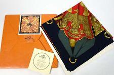 """NIB New Authentic HERMES Soleil de Soie Twill Silk Wrap 90cm Shawl Scarf 35"""""""
