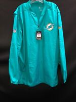 MIAMI DOLPHINS TEAM ISSUED ON FIELD LONG SLEEVE WINDBREAKER NEW W/TAGS & NO TAGS