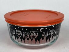 Pyrex Halloween Bowl with Lid - Owls, 4 cup Excellent Used Condition EUC