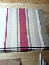 Made to Measure Roman Blind Laura Ashley Awning Stripe Raspberry Lichen