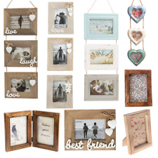 Natural Wood Single Double Triple Photo Picture Frames Home Gifts Decorations