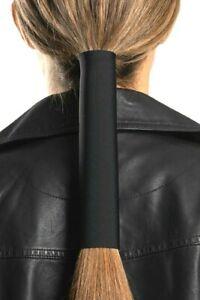 "Hair Glove® Neoprene Solid Black Pony Tail Holder Hair 8"""