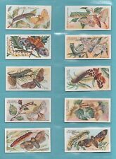 BUTTERFLIES  -  CLARKE  -  RARE SET OF 50  BUTTERFLIES  &  MOTHS  CARDS  -  1912