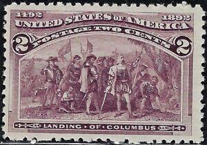 "UNITED STATES 1893  ""Columbian""  Scotts #231,  Mint/NH   Very Fine    FOG   2c"