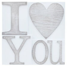 NEW I Love You Printers Block Decorative Home Decor Wall Plaque