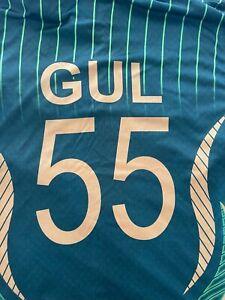 GREAT MATCH WORN AND SIGNED UMAR GUL T20I CRICKET SHIRT PAKISTAN BANGLADESH 2015