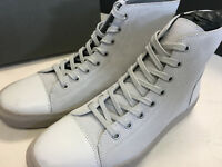 """ALL SAINTS CHALK """"BOUNDARY HI TOP"""" LEATHER TRAINERS SHOES UK 7 & 8 - NEW BOXED"""
