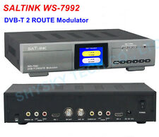 SATLINK DVB-T 2 Route Modulator WS-7992 COFDM RF Signal CVBS HDMI Input H.264 En