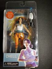 NEW NECA Portal 2 Chell Figure & Aperture Science Handheld Portal Device & LED