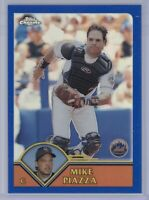 2003 Topps Chrome Mike Piazza #325 Refractor 265/699 HOF NY Mets