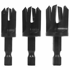 Snappy Tools 43300 Tapered Plug Cutter 3-Piece Set, To Conceal Screws and Other