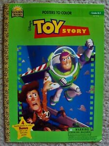 TOY STORY Poster COLORING BOOK Buzz Lightyear SHERIFF WOODY Disney/PIXAR Golden
