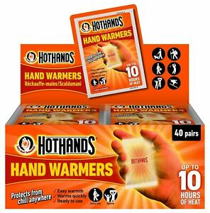 Hot Hands Hand Warmers HotHands Packs of 1 - 40 Protects from chill anywhere