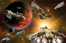 Fototapete Raumschiffe im Weltall Wandbild Spaceships Poster-Motiv by GREAT ART