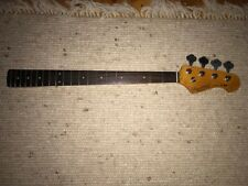 Jazz bass neck, Rose maple, complete,