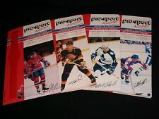 1988 Pro-Sport Autograph HOCKEY Card SET ° 10 DIFFERENT PLAYERS SIGNATURES °