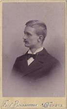 Fred Boissonnas Portrait d'un homme Genève Suisse Vintage Tirage Platine