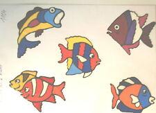 Window Color Fensterbilder 5 Fische Nr.2 bunt