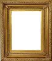 Fremont Handmade Wood Frame Scoop Design,Antique Gold,Corner Leafs 12x16 In.