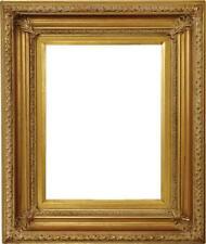 Fremont Handmade Wood Frame Scoop Design,Antique Gold,Corner Leafs W/Gold Liner
