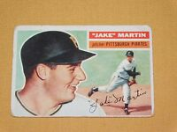 VINTAGE OLD 1950S BASEBALL 1956 TOPPS CARD  JAKE MARTIN PITTSBURGH PIRATES