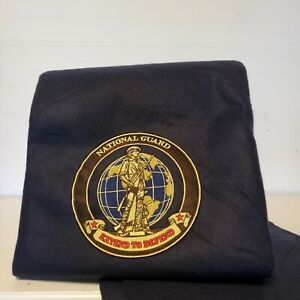 National Guard Navy Fleece Picnic Blanket  Foldable Travel Car Throw 5' x 6'