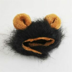 Furry Lion Hair Mane Dog / Cat Hat W/ Ears Cute Costume Headwear Pet Accessory