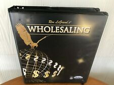 WHOLESALING CASH FLOW REAL ESTATE SYSTEM BY RON LEGRAND - MANUAL & 15 CD'S !