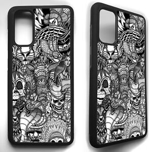 Tattoo ink sleeve pattern art case cover for Samsung Galaxy s8 s9 S10 s20 plus