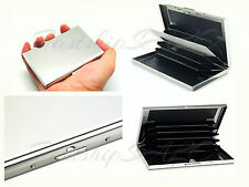 NEW -STAINLESS STEEL Secure Credit Card RF Theft Resistant Holder Wallet Money