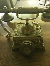 Vintage Victorian Rotary Telephone Gold Color  Replica