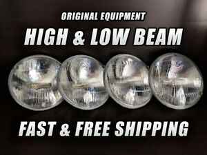 OE Front Halogen Headlight Bulb for Lincoln Premier 1958-1960 High & Low Beam x4