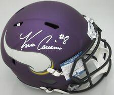 Vikings QB KIRK COUSINS Signed Full Size Replica Speed Helmet AUTO - Beckett