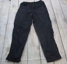 NICE VTG Grey Tag 80s 90s Nike Nylon Black Warm-Up Track Sweat Pants Men's XL
