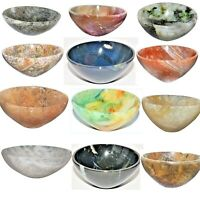 Gemstone Hand Carved Tray Dish Metaphysical Health Orgone Bowl For Home Decor