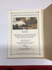 """Don Garlits """"BIGS FIRST INDY"""" certificate of authentication James Ibusuki #955"""
