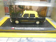RENAULT 8 Taxi Santiago de Chile 1965 schwarz gelb black IXO Atlas SP 1:43