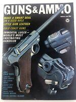 Vintage GUNS & AMMO Magazine March 1966 Immortal Luger