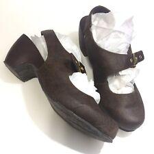 Dr Scholls Womens Slingback Clogs Mules Size 9.5 M Brown Faux Leather