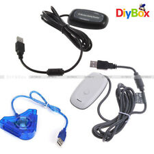 Receptor inalámbrico USB 2.0 Juegos De Pc-Controlador Adaptador para Xbox 360 Blanco/Negro