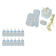 12x Candy Boxes Baby Shower Boy Favors +12x Mini Fillable Bottles Decor