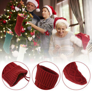 6x Christmas Stockings 18 Inch Large Size Cable Knitted Xmas Stocking Fireplace