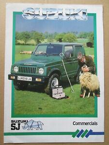 Suzuki SJ Commercials brochure.Suzuki four wheel drive brochure.